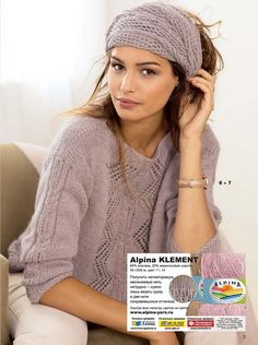 An elegant feminine sweater with beautiful patterns not only looks great - it is also exceptionally Mens Knit Sweater, Mohair Sweater, Sweater Knitting Patterns, Knit Patterns, Knit Crochet, Crochet Hats, Crochet Designs, Knitwear, Clothes For Women