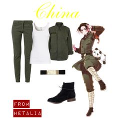 """Hetalia - china"" by anime-couture on Polyvore"