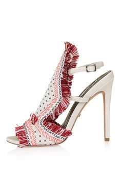 1aa0dfad4ad ROCOCO Embroidered Sandals - Topshop Slingback Shoes