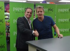 Ashley Church meeting Gordon Ramsay in Newmarket