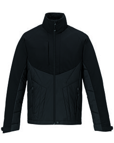 North End Sport Red Mens Innovate Insulated Hybrid Soft Shell Full Zip Jacket 88679