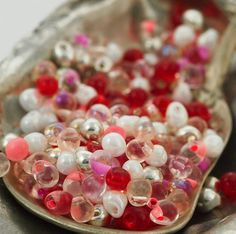 Conversational Hearts - Limited Edition Fringe Bead Mix or Beads with Jump Rings Mix - Sweet Miyuki Glass Drops - 100% Guarantee #diy #valentine