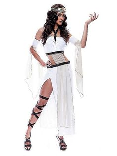 Aphrodite Costume Ideas | Home u2022 Costumes u2022 Sexy Costumes u2022 Greek/Roman  sc 1 st  Pinterest & Grecian Goddess Costume - Womenu0027s Roman Costume-nice belting...could ...