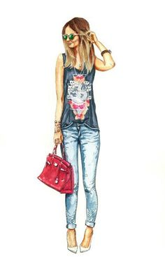 """Check out my art piece """"Fashion Illustration 4"""" on crated.com"""