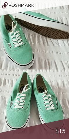 Green vans Brand new, absolutely never worn, recieved the wrong size Vans Shoes Sneakers
