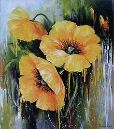 Oil painting Flowers art canvas art for beginners standard oil painting purple floral wall art daffodils painting van gogh Acrylic Painting Flowers, Oil Painting On Canvas, Watercolor Flowers, Painting Clouds, Poppy Flower Painting, Poppies Painting, Simple Oil Painting, Watercolor Artists, Acrylic Paintings