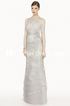 $100.99-Elegant Sheath Jewel-Neck  Appliqued  Long Prom Dress With 3/4-Sleeves. http://www.ucenterdress.com/sheath-jewel-neck-3-4-sleeve-appliqued-floor-length-prom-dress-with-beading-and-flower-pMK_301366.html.  Free Shipping & Free Custom Made! Buy cheap prom dresses, party dresses, night dresses, maxi dresses, little black dresses, junior prom dresses, girls prom dresses, designer prom dresses for sale. We have great 2016 prom dresses on sale at #UcenterDress.com today!
