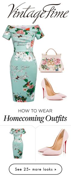 """Vintage Beauty"" by modestyqueen on Polyvore featuring Christian Louboutin, Dolce&Gabbana, Tag and vintage"