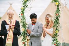 Outdoor ceremony with floral arch altar - Vivienne Westwood Bridal Gown For A Buddhist Outdoor Wedding In Worcestershire With Bridesmaids In J Crew And Images From Paper Angel Paper Angel, Bridal Gowns, Wedding Dresses, Floral Arch, Outdoor Ceremony, Vivienne Westwood, J Crew, Bridesmaids, Flowers