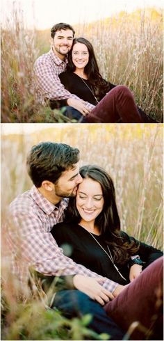 Wedding Photography Poses Love these fall engagement photos in tall grass in Knoxville TN