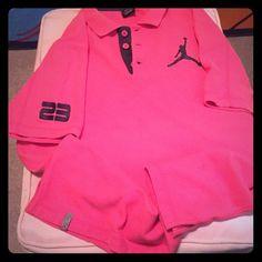 Jordan shirt Pink jordan shirt. Men  size Large, very good condition Jordan Tops Tees - Short Sleeve