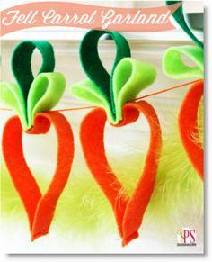Easy Felt Carrot Garland (Easter Craft Idea) Tutorial