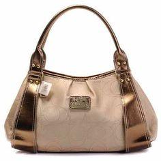 Coach Madison Op Art Leather Handbags Peachpuff