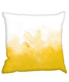 Yellow Dip-Dye Cushion