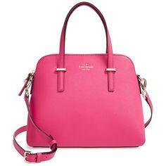 kate spade new york 'cedar street - maise' satchel (6 405 UAH) ❤ liked on Polyvore featuring bags, handbags, purses, pink handbags, pink leather handbag, satchel purse, leather purse and leather handbags