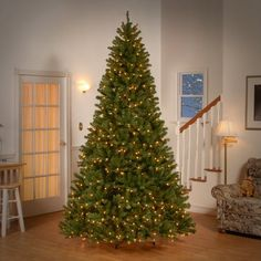 north valley spruce hinged artificial christmas tree with 700 clear at the home depot