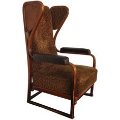 Josef Hoffmann Armchair | From a unique collection of antique and modern wingback chairs at https://www.1stdibs.com/furniture/seating/wingback-chairs/