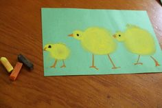 Three Little Chicks - a fun and easy spring time chalk pastel tutorial #art