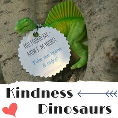 Leaving toy dinosaurs at the playground for kids - a random act of kindness the whole family can enjoy!