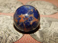 Genuine ORANGE & BLUE SODALITE Orb  Genuine Sodalite by esoTERRAca