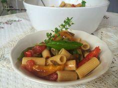 La Olla Vegetariana: Ensalada de pasta con verduras al horno.-