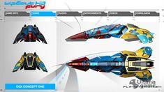 Todos los equipos y diseños de naves de WipEout Fury, la expansión de WipEout HD…