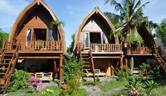 $60 per night at Lombok Indonesia's Mango Bungalows of Gili Trawangan Island