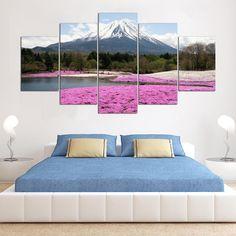5pcs japan Mountain Fuji Landscape Painting Printed Canvas Wall Art Home Decor #Unbranded #ArtDeco