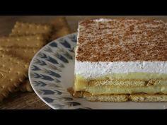 Πεντανόστιμο Γλυκό Ψυγείου σε 5' (Banoffee) - Banoffee in 5' - YouTube Greek Desserts, Greek Recipes, Cheesecake Factory Recipes, Banoffee, Happy Foods, Cheesecakes, Vanilla Cake, Tiramisu, Cupcake Cakes