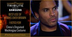 I voted for Cinna's Disguised Mockingjay Costume as Tribute for The Hunger Games Tribute Awards #TheHungerGamesTribute  tribute.thehungergames.movie