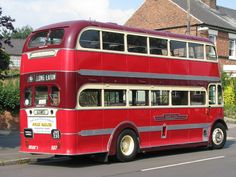 A three quarter rear view of Duple bodied Leyland PD1, fleet number 507, in preservation