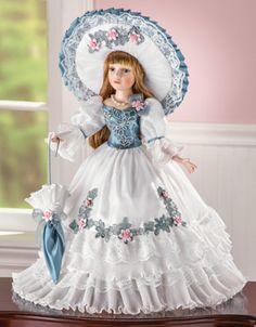 Collectible Porcelain Summertime Doll