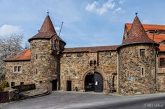 The upper gate of the Czocha Castle (Schloss Tzschocha), Lower Silesia, Poland
