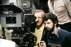 George Lucas on the set of Star Wars: Episode IV - A New Hope (1977)