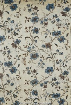 Textile design. England, late 18th century