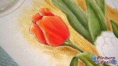 Pintura en Tela Tulipanes *Paint Fabric Tulips* Pintura Facil Para Ti