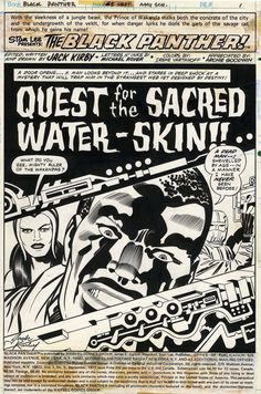 Black Panther splash by Jack Kirby  Comic Art