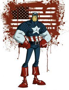 Captain America by Skottie Young