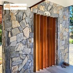 Aussietecture natural stone supplier has a unique range natural stone products for walling, flooring & landscaping. Sandstone Cladding, Natural Stone Cladding, Natural Stone Wall, Natural Stones, Stone Feature Wall, Stone Supplier, Dry Stone, Shed Homes, Wall Cladding