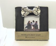 Father's Day GIFT Personalized Picture Frame 'World's Best Dad' New Dad Father Daddy Gift from Baby Son Daughter on Etsy, $28.00