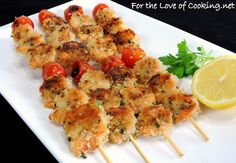 """<p><strong><a href=""""http://www.fortheloveofcooking.net/2012/06/mediterranean-grilled-shrimp-kebabs.html"""">SEE RECIPE HERE:Mediterranean Grilled Shrimp Kebabs</a></strong></p>"""