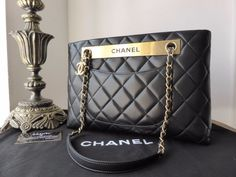 2eef60b9b5fdbd Chanel Classic Quilted Shoulder Bag in Black Lambskin with Antiqued Gold  Hardware - SOLD. Chanel Purse ...