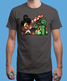 """""""Game over Man, Game Over!"""" is today's £8/€10/$12 tee for 24 hours only on www.Qwertee.com Pin this for a chance to win a FREE TEE this weekend. Follow us on pinterest.com/qwertee for a second! Thanks:)"""