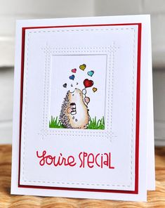 Inky Fingers: Penny Black and Paper Smooches You're Special card