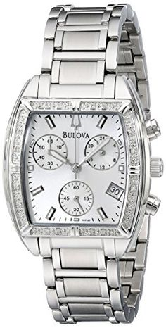 Women's Wrist Watches - Bulova Womens Stainless Steel Bracelet Watch with Diamond Accents *** You can get additional details at the image link. Bulova Watches, Hand Watch, Jewelry For Her, Stainless Steel Bracelet, Fashion Watches, Watch Bands, Bracelet Watch, Bling, Diamond