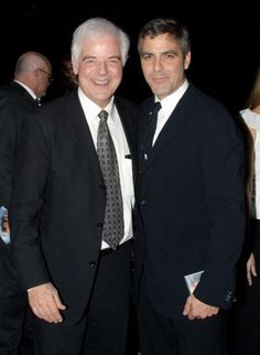 Actor George Clooney and his father, TV anchorman and host Nick Clooney, attend the Rosemary Clooney Life And Career celebrated by her family at the Beverly Hilton Hotel on December 10, 2002 in Beverly Hills, California.  (singer Rosemary Clooney was Nick Clooney's sister and George Clooney's aunt.).