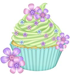 "Photo from album ""Ballerina Fairy TS"" on Yandex. Cupcake Pictures, Cupcake Images, Cupcake Pics, Cupcake Drawing, Cupcake Art, Cupcake Clipart, Frame Floral, Birthday Clipart, Pretty Cupcakes"