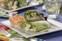Grilled chicken, fresh fruit, and a little crunch makes these chicken wraps summer-ready. Our recipe makes two, so you can enjoy with a friend or loved one!