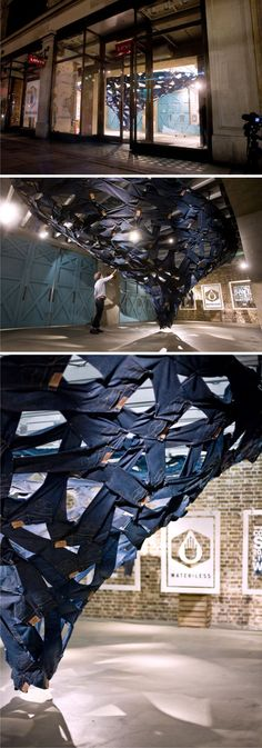 ♂ Commercial retail interior design Levi's-Whirlpool-Sculpture-by-Ian-Mcchesney