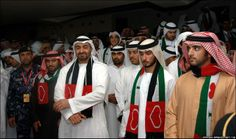 Shiekh Mohammed bin Zayed, Sheikh Majid and Sheikh Hamdan 2011-12